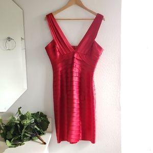 BCBGMaxAzria Red Sleeveless Dress Size 12